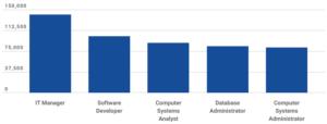 Highest average salaries among IT professions